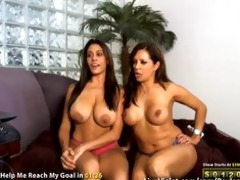 nice-looking lesbo goddesses get nasty drilled