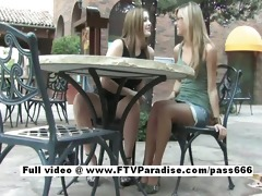 sweet non-professional hawt lesbo beauties outdoor