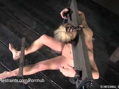 cherie deville in stocks with immodest feet