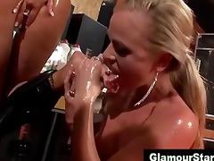 lascivious glam lesbos eat cum-hole