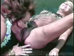 homemade - golden-haired on dark brown beach sex