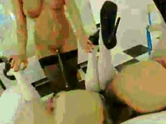 four extraordinary lesbos vibrating asses