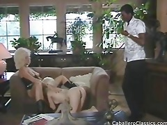 blonds engulfing dark dong