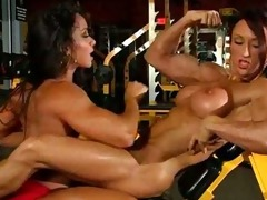 buff chicks at the gym