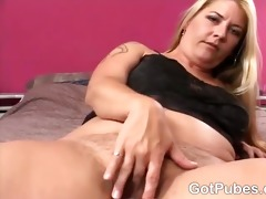 hot harlots dildoing every others bushy pussies