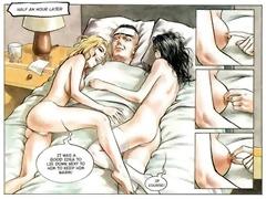 hardcore concupiscent golden-haired sex fuckfest