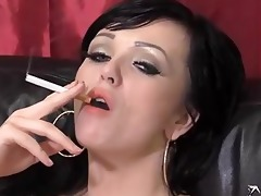 jasmine james and ally smokin and playing with