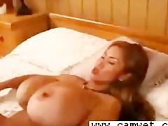 breasty lesbo golden-haired with large love melons