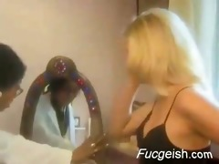 interracial indian and white lesbo doctors office