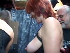 lesbian with tattoo on gear gets her pointer
