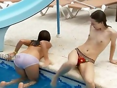 lesbo allies fingering wet cracks