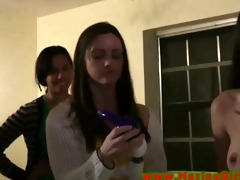 college lesbo toy play for the fresh lesbian