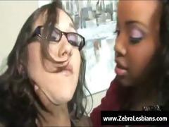 zebra cuties - swarthy lesbo women fuck