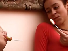 exposed lezzies testing lollipops