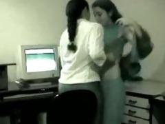 indian lesbian babes at work