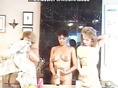 lesbo party with unfathomable marital-device fuck