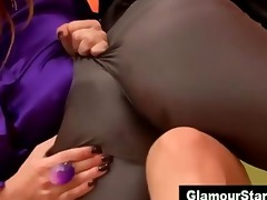 excited euro lesbian babes in nylons
