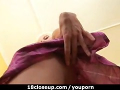 dilettante shaking her charming b-cup tits
