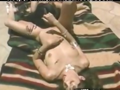 sexually excited oriental babe dildoing moist fur
