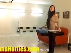 czech lesbian babes doing striptease at the