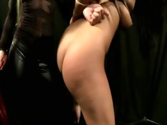 femdom humiliates her bonded hottie and can