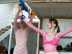 50yo hungarian babes playing with toys