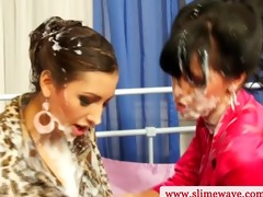 dong lesbo pounding with toy in high definition
