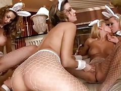 hawt women eve and blue gal receives a real lesbo
