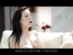 nubile films - lesbian lovers share lovely pussy