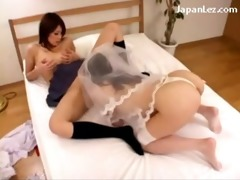 breasty bride licking cunt getting licked