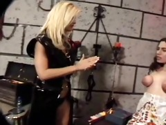 lesbian tit punishment