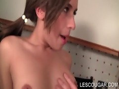 excited lesbian mommy stripping a legal age