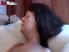 old lady lesbian babes rub and touch every other
