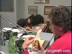 lesbos fuck during the time that their boss