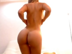 flawless golden-haired sucks the marital-device