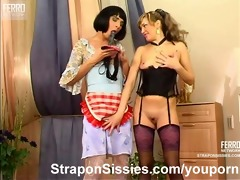 strapon d like to fuck bonks sissy maid chap