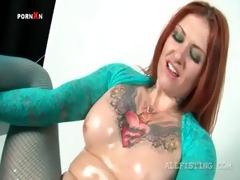 lesbian redhead hooker enjoying brutal fisting