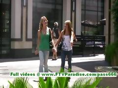 rilee and sara sexy lesbo teenages flashing tits