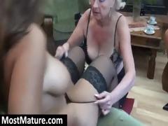 granny eat a lesbo milfs fur pie