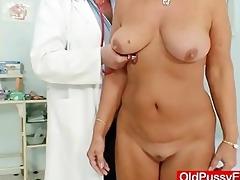 hawt breasty granny mambos and twat gyno checkup