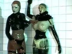 rubber pecker lesbian babes
