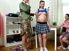 preggy student and her friend acquire taught