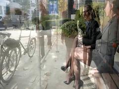 8 lesbo secretarysluts in public showing upskirt