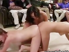 college hazing double ended vibrator fuck