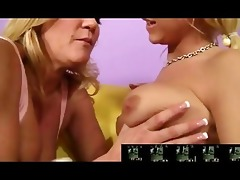 breasty milf seduces sexy golden-haired