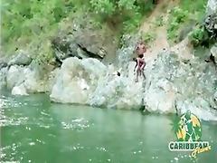 hawt caribbean island models fucking fuckfest at