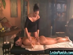 punishing breasty lesbian babes with dildos