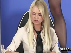 sensual lesbian blond filling gfs starved face