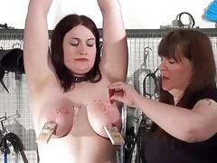 lesbo slavegirl alyss tortured by her